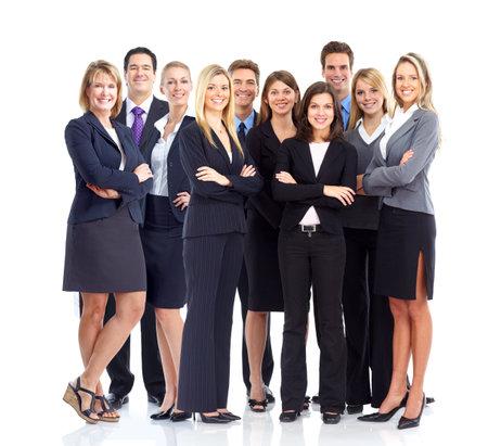 Mensen uit het bedrijfsleven team. Geà ¯ soleerd op witte achtergrond.