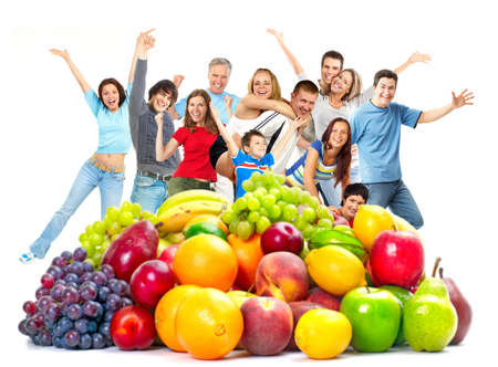 funny fruit: Happy people.