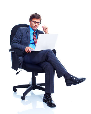 1 person: Business man. Stock Photo