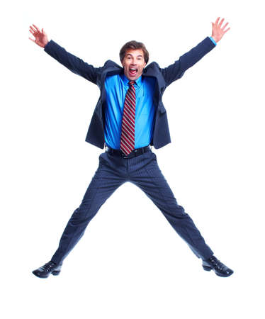 jumping businessman: Business man. Stock Photo
