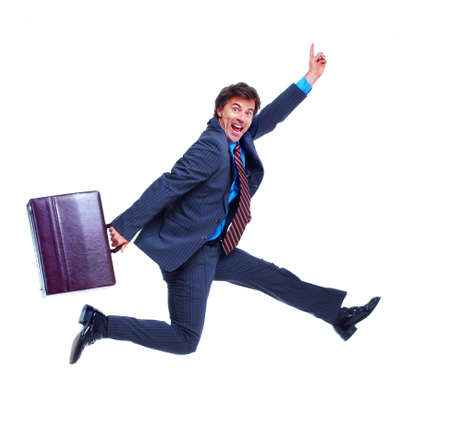 business case: Business man. Stock Photo