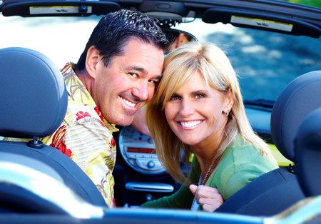 cabrio: Gelukkige paar.