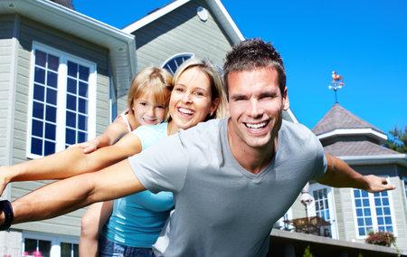 house insurance: Happy family.