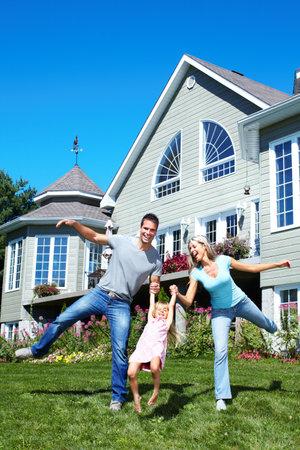 Gelukkig gezin. Stockfoto - 10548661
