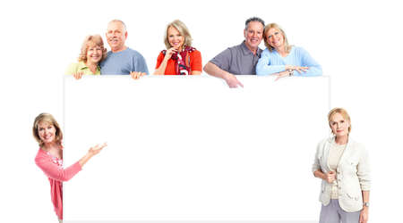copy space: Elderly people.