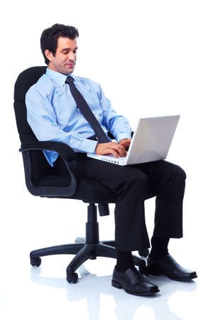 man in chair: Business man. Stock Photo
