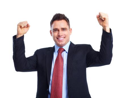 happy businessman: Business man. Stock Photo