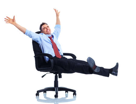 executive chair: Business man. Stock Photo