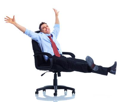 empleados trabajando: Hombre de negocios.
