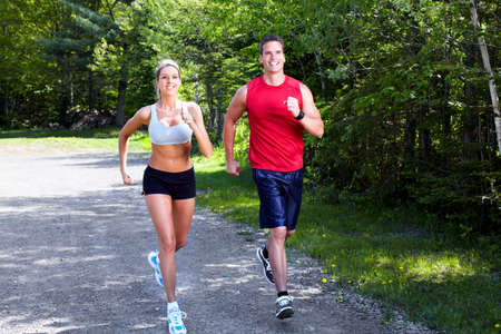 Jogging couple. Stock Photo - 10631112