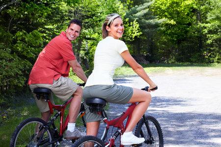 Riding couple.