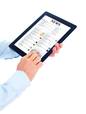 Tablet computer. Stock Photo