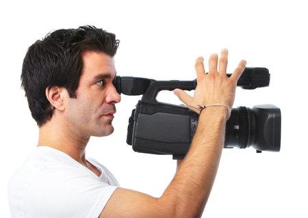 hombre disparando: Camarógrafo.