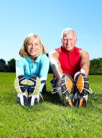 senior fitness: Gym, Fitness, healthy lifestyle.