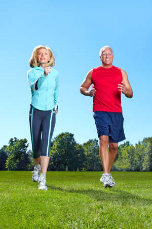 Jogging couple. Stock Photo - 10631008