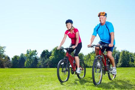 woman bike: Riding couple.