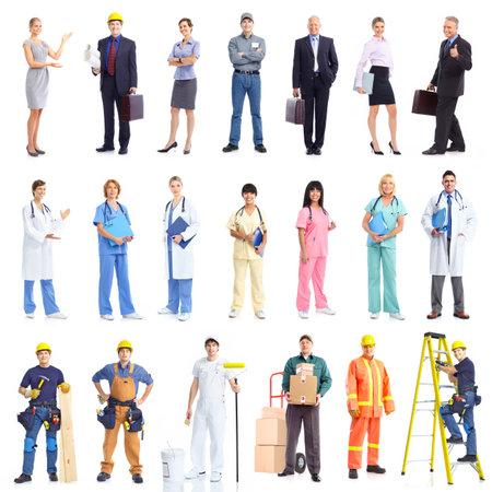factory workers: Contractors. Stock Photo