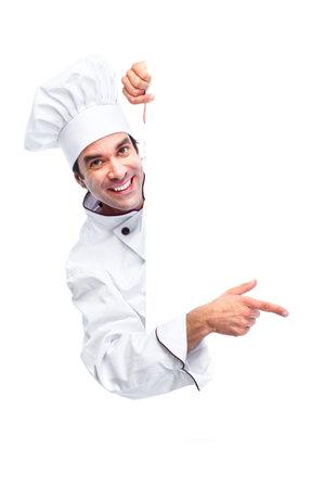 Chef-kok. Stockfoto