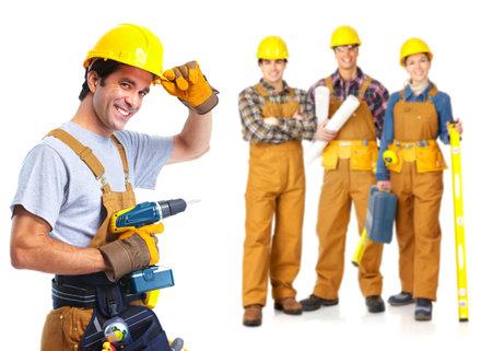 factory workers: contractors workers people