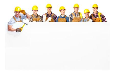 trabajadores: gente de trabajadores contratistas Foto de archivo