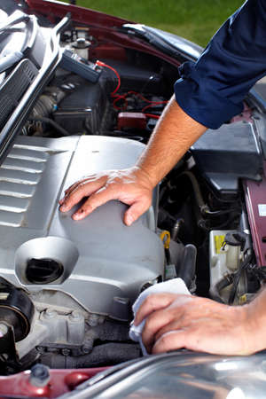 auto parts: Auto mechanic. Stock Photo
