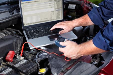 Auto repair. Stok Fotoğraf - 10696703