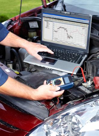 Auto repair. Stok Fotoğraf - 10696480