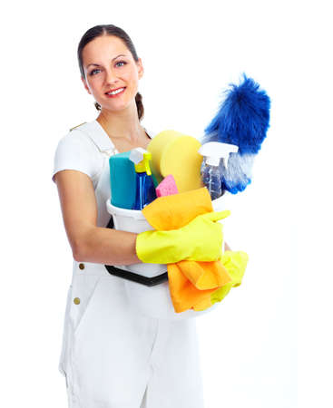 white women: housewife Stock Photo