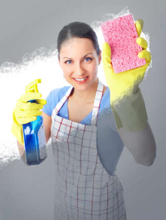 charlady: housewife Stock Photo
