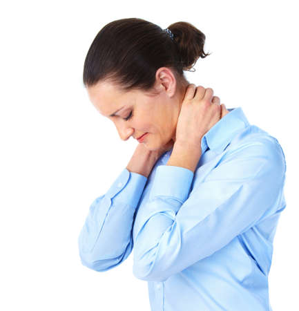 chronic back pain: Stress. Stock Photo