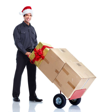 christmas gift: Delivery worker
