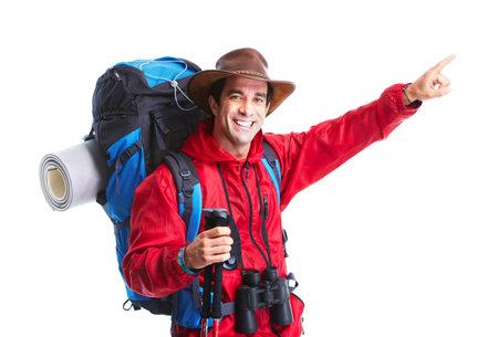 Tourist. Hiking photo