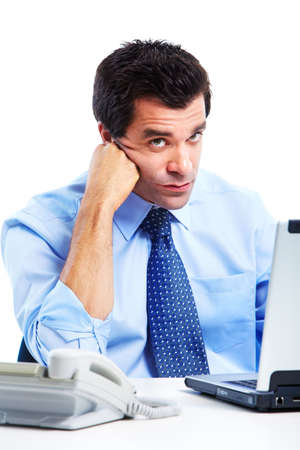 tired businessman: Tired handsome businessman