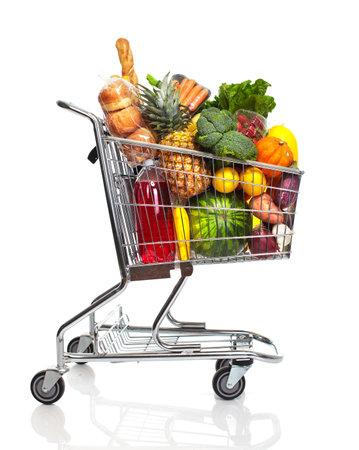 carro supermercado: Carro de compras. Foto de archivo