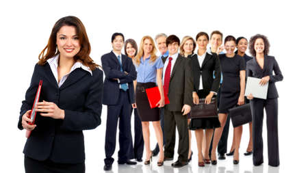 successful business woman: Business people team