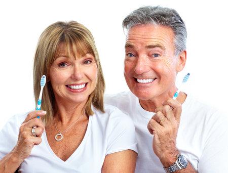toothbrush: Couple. Stock Photo