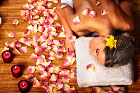 day spa: Spa massage.