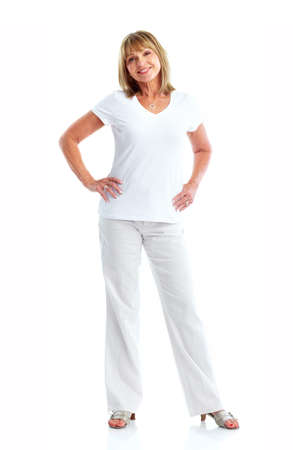 woman standing: Senior woman. Stock Photo