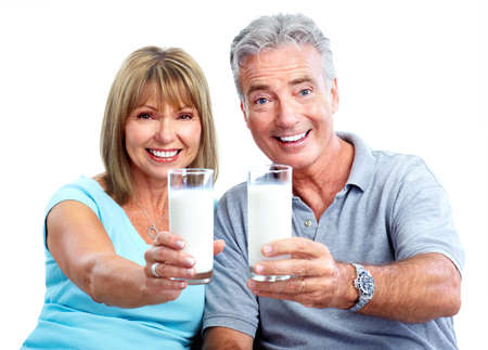older age: People with milk.