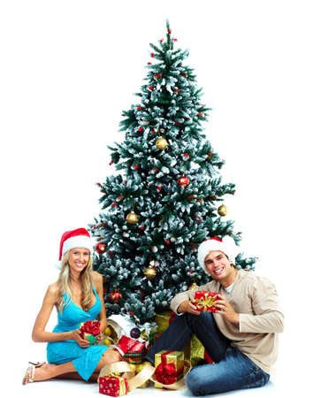 Couple and christmas tree. Stock Photo - 10757209