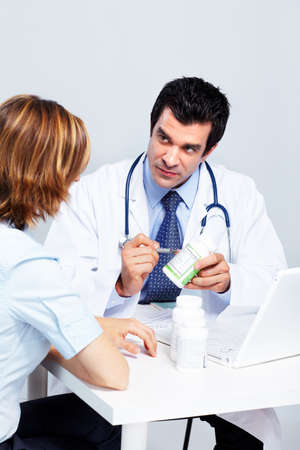 Medical doctor and patient. photo