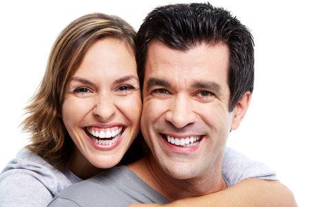 healthy teeth: Pareja feliz. Foto de archivo