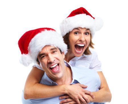 Happy Santa paar.