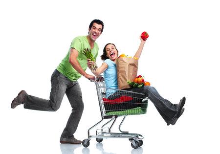 Einkaufen Paar. Standard-Bild