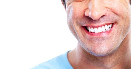 healthy teeth: Sonriente hombre.