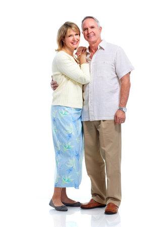 ancianos felices: Feliz pareja de ancianos.