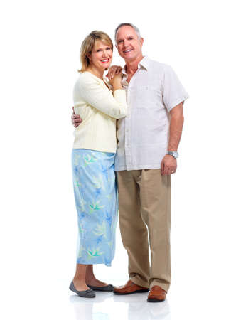 Happy elderly couple. Banque d'images