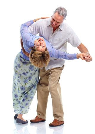 people dancing: Felice coppia di anziani.