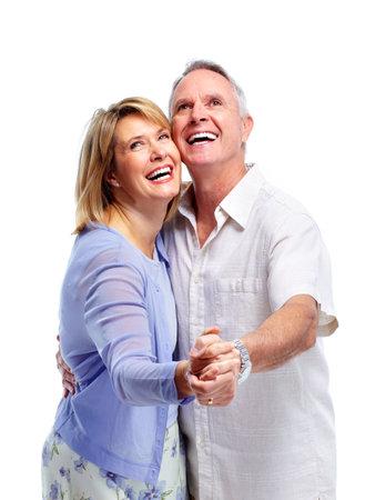 older couple: Happy elderly couple. Stock Photo