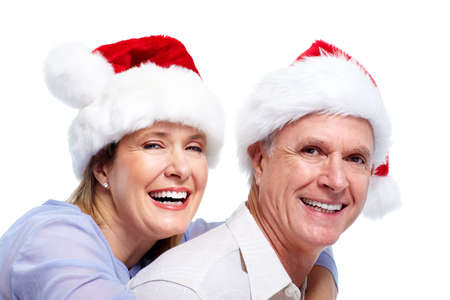 Happy santa couple. photo